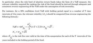 what does this formula to derive annualized volatility from var quantitative finance