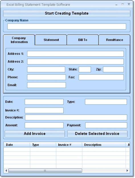 excel form templates njyloolus billing statement forms