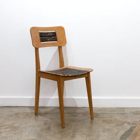 chaise paillée chaise paillée en bois des ées 1950