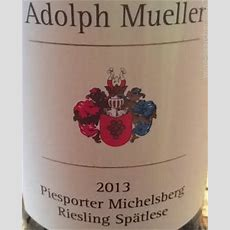 Tasting Notes Adolph Mueller Piesporter Michelsberg