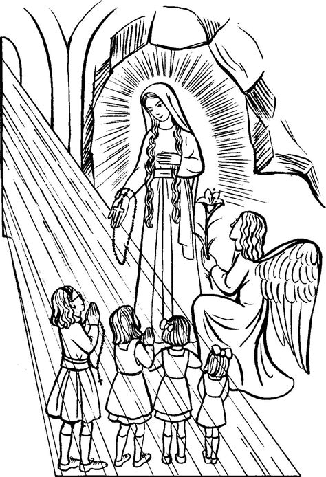 lady   rosary catholic coloring page feast day