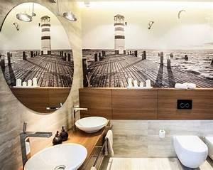 Fototapete Für Bad : bad gestalten 35 moderne und kreative badideen ~ Sanjose-hotels-ca.com Haus und Dekorationen