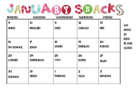 calendar template kindergarten