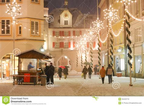 christmas illuminations   medieval town square