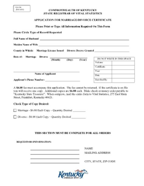 vital statistics form for divorce fillable kentucky divorce decree fill online printable