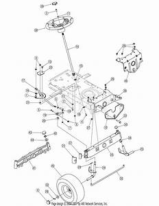 Troy Bilt 13an77tg766 Pony  2007  Parts Diagram For Steering  U0026 Front Axle