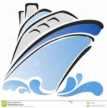 Nave Ship Blu Stilizzato