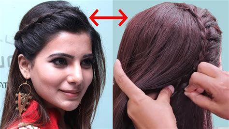 actress samantha inspired hairstyle tutorial quick party