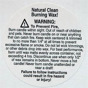 packaging supplies With free printable candle warning labels