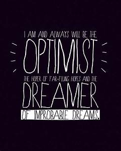 DISCOUNT - Optimist and Dreamer (Doctor Who quote - 11th ...