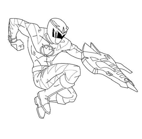 free coloring pages power rangers dino thunder dino power