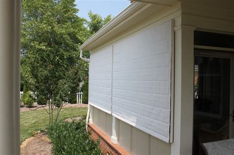 screen porch shades closed  porch isnt