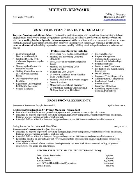 project management skills resume samples 2016 construction project manager resume sample writing