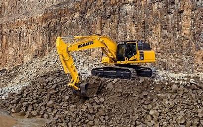Komatsu Excavator 4k Construction Excavators Vehicles Pc490lc