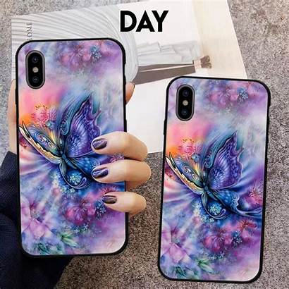 Phone Case Glow Samsung Luminous Iphone Butterfly