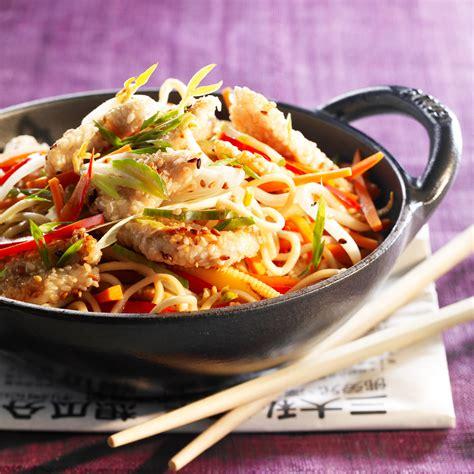 cuisine et vin de recette wok de poulet aux légumes facile et pas cher recette