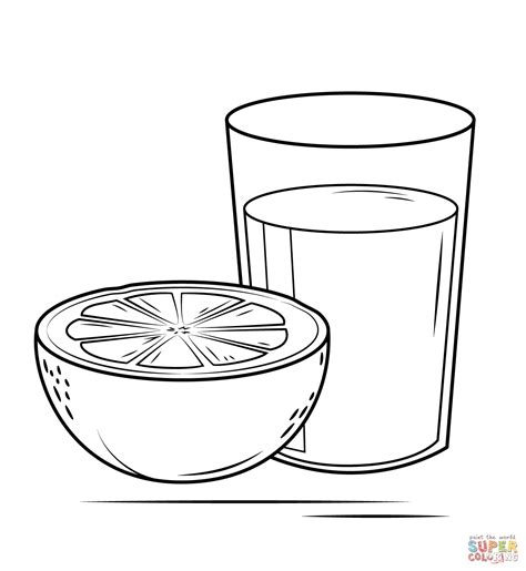 Coloring Juice by Grapefruit Juice Coloring Page Free Printable Coloring Pages