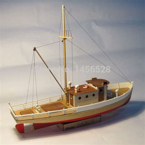 Wooden Model Fishing Boat Kits by Classic Wooden Sailing Boat Scale Model Wood Scale Ship 1