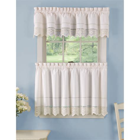 white country kitchen curtains white rod pocket curtain sears