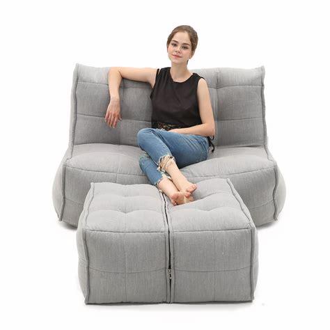 seater grey sofa designer bean bag couch keystone