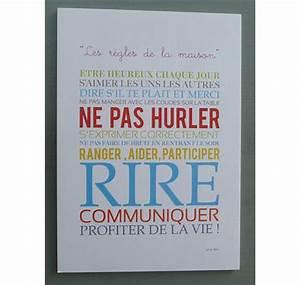 Regle De La Maison A Imprimer : affiche les r gles de la maison ~ Dode.kayakingforconservation.com Idées de Décoration