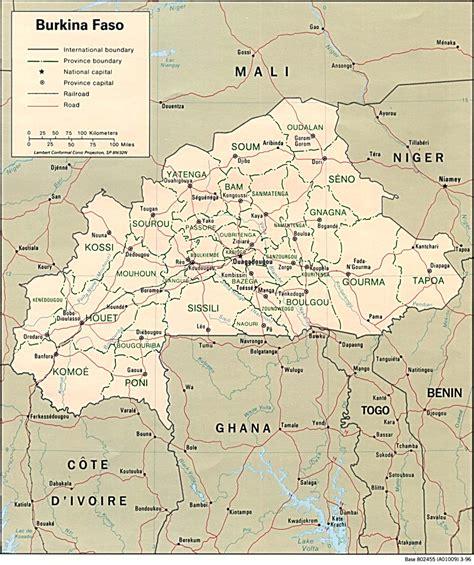Burkina Faso • Carte • PopulationData.net