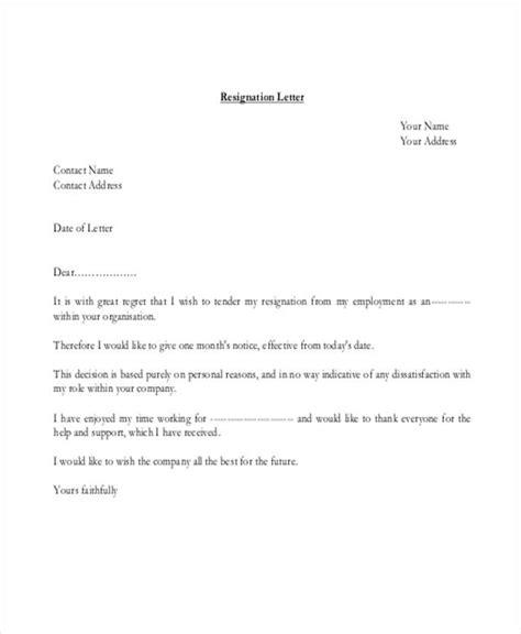 resignation letter   premium templates