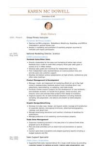 fitness director resume objective fitness instructor resume sles visualcv resume sles database