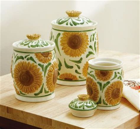 Sunflower Canister Sets Kitchen by Sunflower Kitchen Ceramic Sunflower Kitchen Canister Set