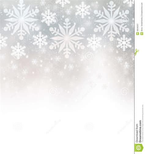 beautiful snowflakes border stock illustration image
