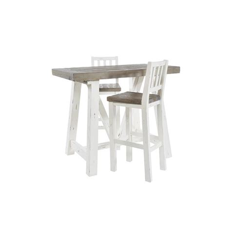 purbeck white painted distressed reclaimed wood bar table