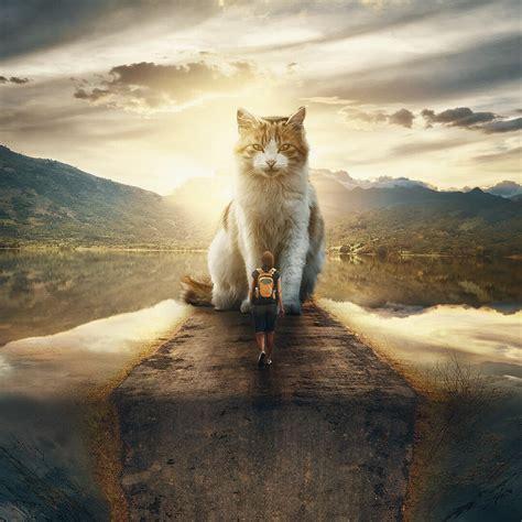 talented artist  amazing photoshop  giant animals