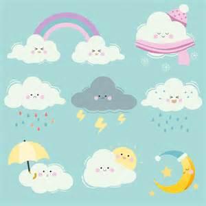 A coleção de conjunto de nuvem de desenho animado o