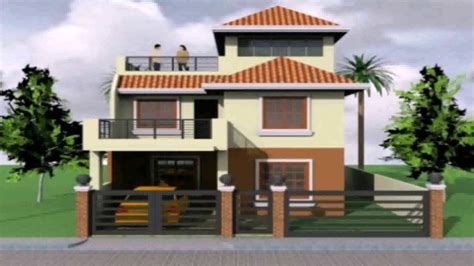 2 storey house with roof deck design roof design