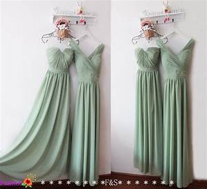 sage bridesmaid dressmint bridesmaid dresslong chiffon grey With sage wedding dress