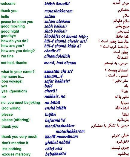 Farsi Language by Words To Wise Useful Things