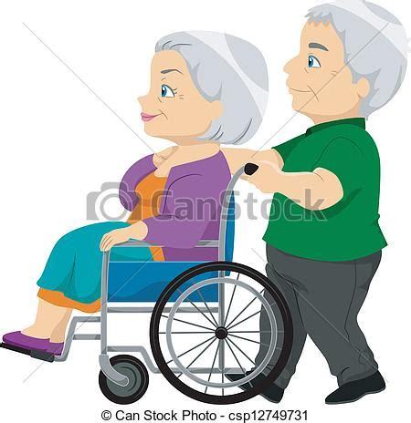 vecteurs de personne agee dame fauteuil roulant vieux