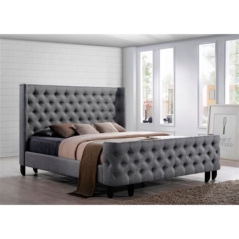 Dream Bed A Button Tufted Winged Headboard And Footboard