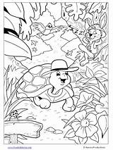 Coloriage Cried Coloring Tortue Wolf Boy Liebre Tortuga Dibujos Coloriages Fables Colorear Animaux Album Freekidstories Docente Aula Template sketch template