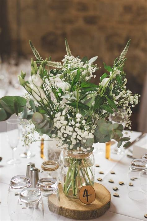 Picture Of A Refreshing Greenery And Floral Centerpiece