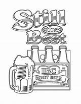 Beer Coloring Root Pages Still Tocolor Printable Getcolorings sketch template