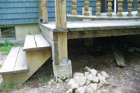 Precast Concrete Deck Footings Home Depot by Precast Deck Piers Home Depot Pictures To Pin On