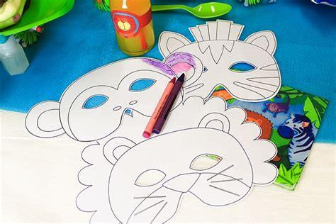 printable jungle animal masks party delights blog