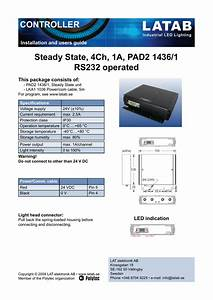 Steady State  4ch  1a  Pad2 1436  1 Rs232 Operated