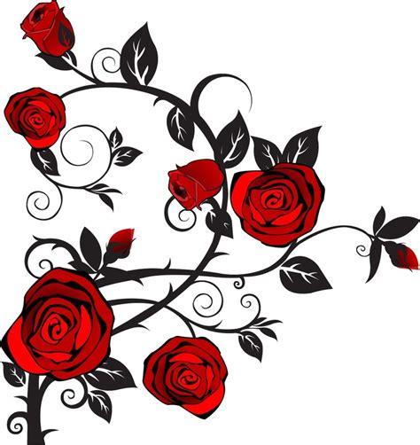 Roses Clip Clip Black And White Vine Clipart Panda Free