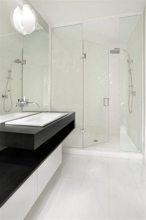 toronto White Flooring bathroom contemporary with sink