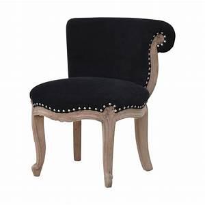 Black, Velvet, Studded, Chair