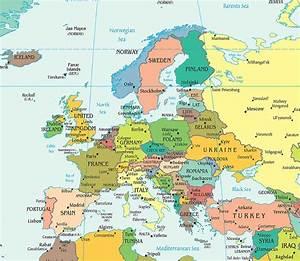 Europe Political Map, Political Map of Europe - Worldatlas.com