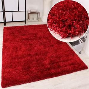 Tapis Shaggy Rouge : tapis shaggy rouge 200x290 cm achat vente tapis ~ Teatrodelosmanantiales.com Idées de Décoration