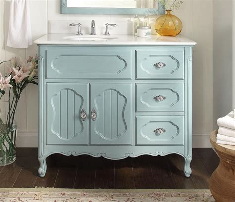 42 inch white vanity with marble top adelina 42 inch antique cottage bathroom vanity light blue